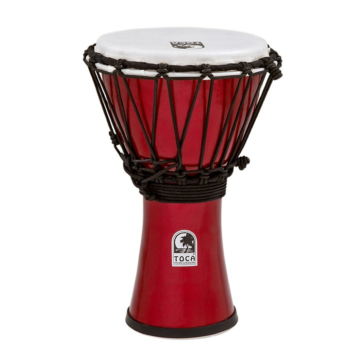Toca Freestyle ColorSound Djembe Metallic Red 7 Inch