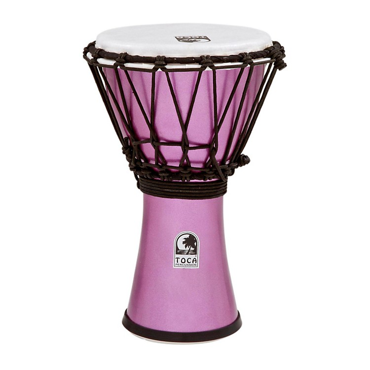 Toca Freestyle ColorSound Djembe Lexus White 7 Inch