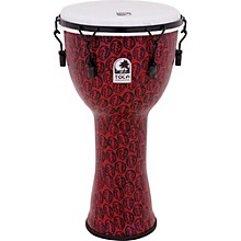 Toca Freestyle II Mechanically-Tuned Djembe 12 in. Red Mask