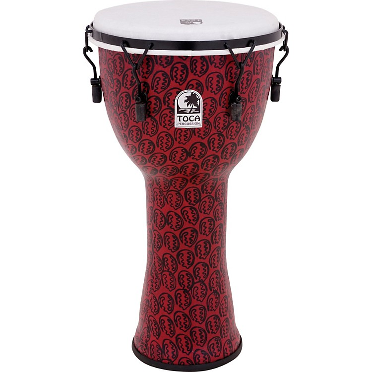 Toca Freestyle II Mechanically-Tuned Djembe 14 inch Red Mask