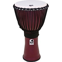 Toca Freestyle II Rope-Tuned Djembe 12 in. Deep Red