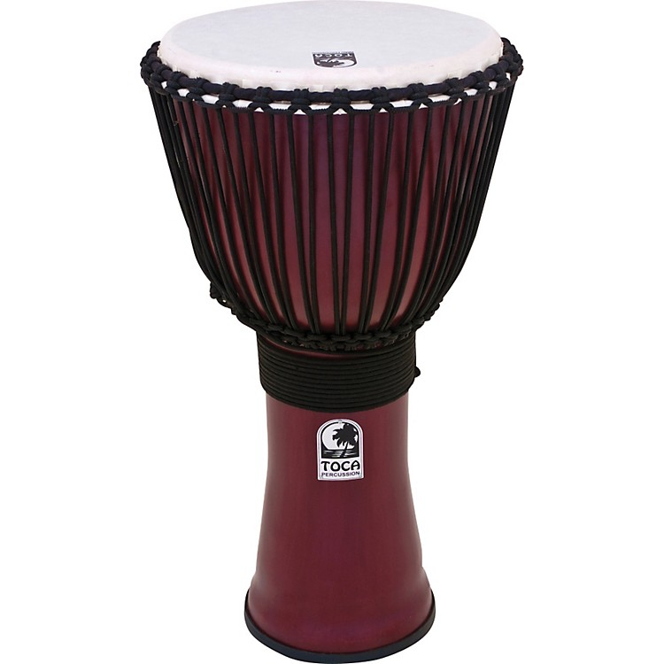 Toca Freestyle II Rope-Tuned Djembe 14 inch Deep Red