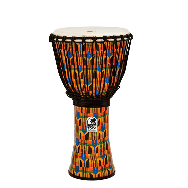 TocaFreestyle Kente Cloth Rope Tuned Djembe12 Inch