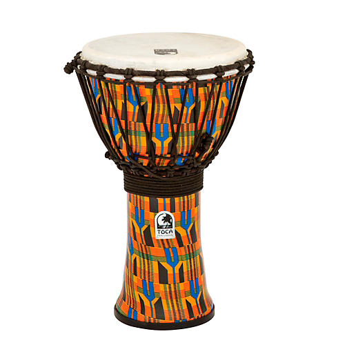 Toca Freestyle Kente Cloth Rope Tuned Djembe 9 in.