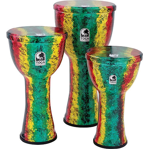 Toca Freestyle Lightweight Djembe Drum 9 in. Rasta