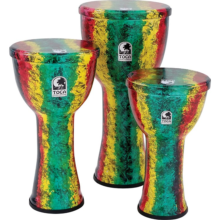 Toca Freestyle Lightweight Djembe Drum 9 inch Earth Tone