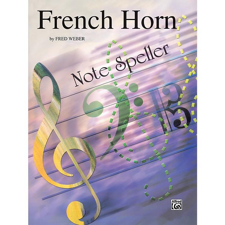 AlfredFrench Horn Note Speller French Horn