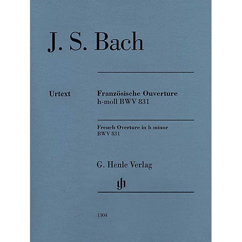 G. Henle Verlag French Overture in B Minor BWV 831 (Edition with Fingering) Henle Music Folios Series Softcover-thumbnail