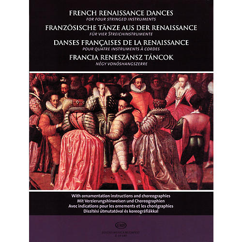 Editio Musica Budapest French Renaissance Dances (for Four Stringed Instruments) EMB Series-thumbnail