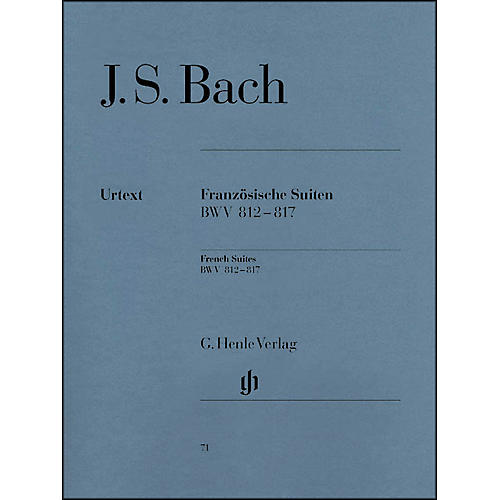 G. Henle Verlag French Suites BWV 812-817 By Bach / Steglich