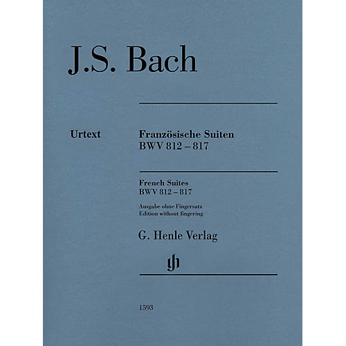 G. Henle Verlag French Suites BWV 812-817 Henle Music Folios Softcover by Bach Edited by Ullrich Scheideler-thumbnail