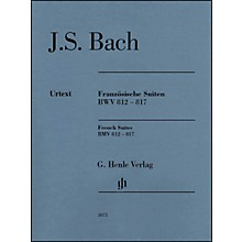 G. Henle Verlag French Suites BWV 812-817 without Fingering By Bach / Steglich