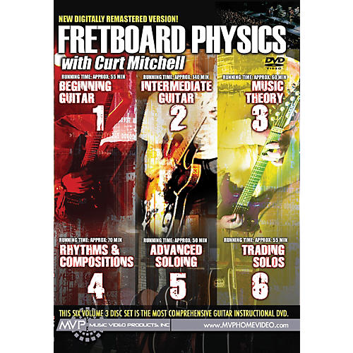 MVP Fretboard Physics for Guitar DVD - Volumes 1-6 Complete