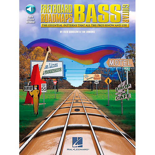 Hal Leonard Fretboard Roadmaps - Bass - The Essential Patterns That All the Pros Know and Use (Book/CD)-thumbnail