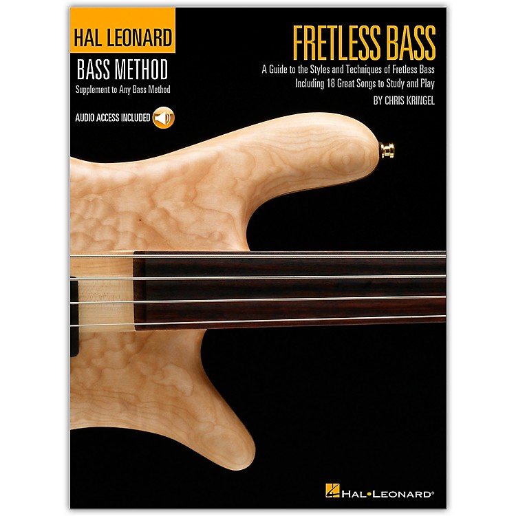 Hal Leonard Fretless Bass Method Book with CD