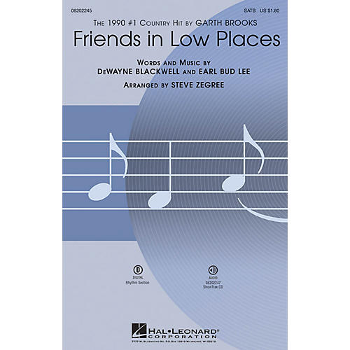 Hal Leonard Friends in Low Places SATB by Garth Brooks arranged by Steve Zegree-thumbnail