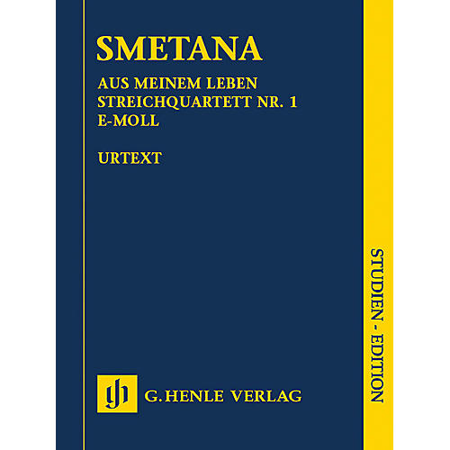 G. Henle Verlag From My Life - String Quartet No. 1 in E Minor Henle Study Scores by Smetana Edited by Milan Pospisil-thumbnail
