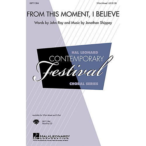 Hal Leonard From This Moment, I Believe 2-Part Composed by Jonathan Shippey-thumbnail
