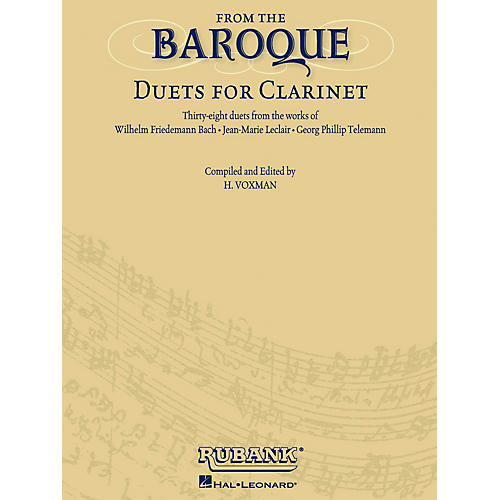 Rubank Publications From the Baroque (Duets for Clarinet) Ensemble Collection Series Softcover-thumbnail