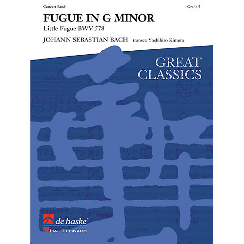 Hal Leonard Fugue In G Minor Score Only Concert Band-thumbnail