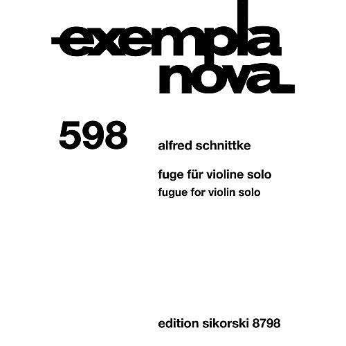 Sikorski Fugue for Violin Solo (Exempla Nova 598) Special Import Series Softcover-thumbnail
