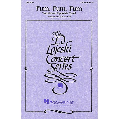 Hal Leonard Fum, Fum, Fum SATB a cappella arranged by Ed Lojeski-thumbnail