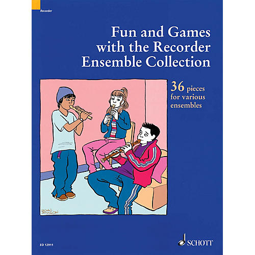 Schott Fun and Games with the Recorder - Ensemble Collection (36 Pieces for Various Ensembles) Misc Series-thumbnail