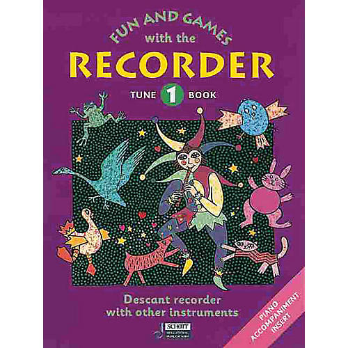 Schott Fun and Games with the Recorder (Descant Tune Book 1) Schott Series by Gerhard Engel-thumbnail