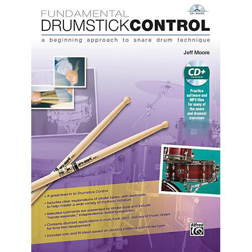 Alfred Fundamental Drumstick Control Book & CD-thumbnail