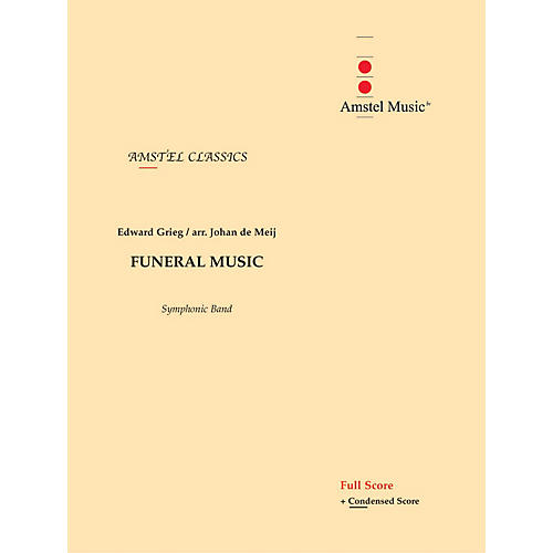 Amstel Music Funeral Music (from The Melodrama Bergliot) (Score Only) Concert Band Level 2-3 Arranged by Johan de Meij-thumbnail