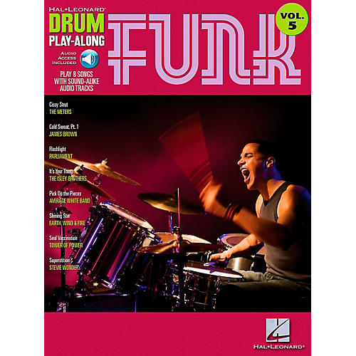 Hal Leonard Funk Drum Play-Along Volume 5 Songbook with CD