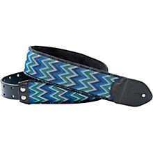 Right On Funky Lima Blue Guitar Strap