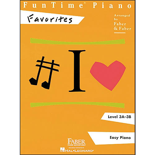 Faber Piano Adventures Funtime Piano Favorites Book Level 3A-3B Easy Piano - Faber Piano