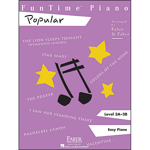 Faber Piano Adventures Funtime Popular Level 3A - 3B Easy Piano-thumbnail