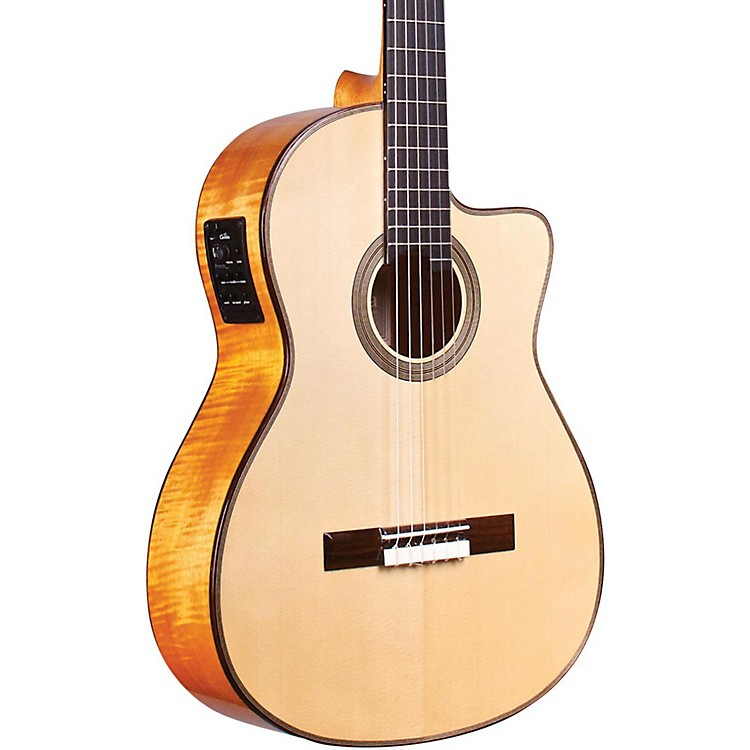 CordobaFusion 12 Maple Acoustic-Electric Nylon String Classical GuitarNatural