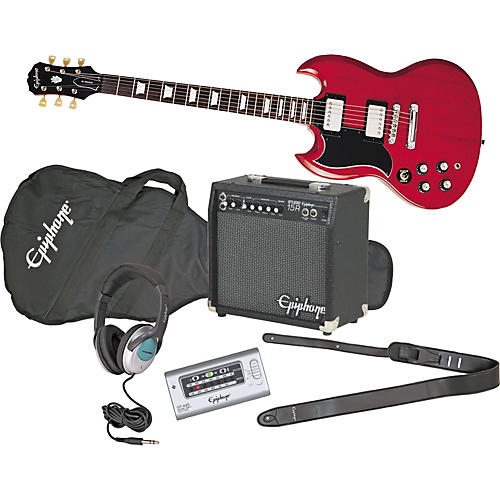 Epiphone G-400 Left-Handed Electric Guitar and All Access Amp Pack