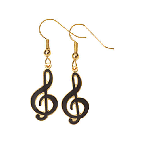 AIM G-Clef Earrings Black