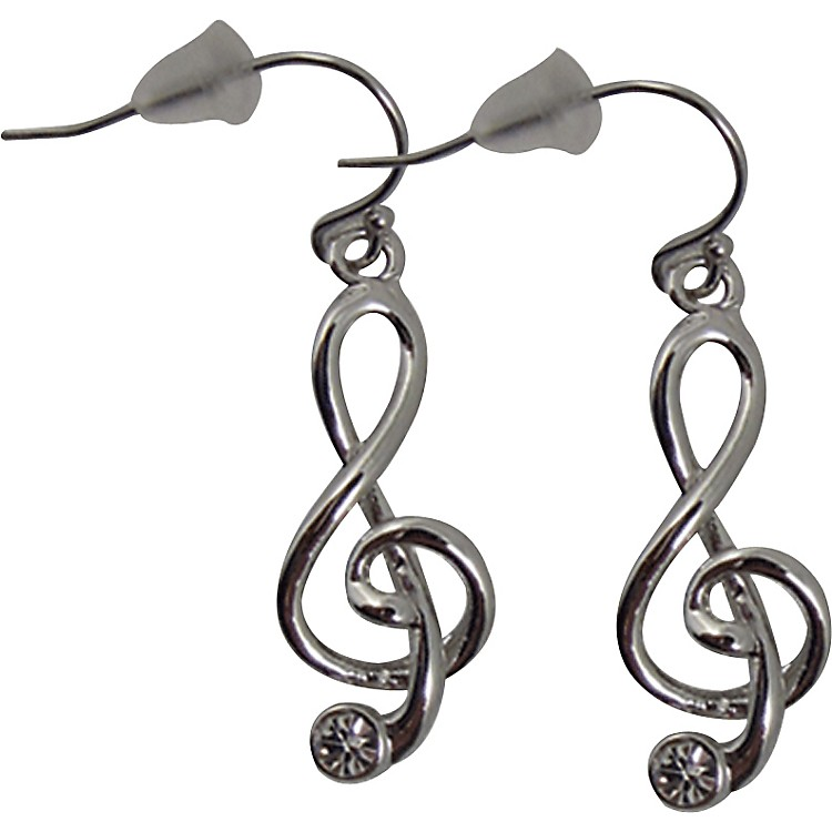 AIM G-Clef Earrings With Stone