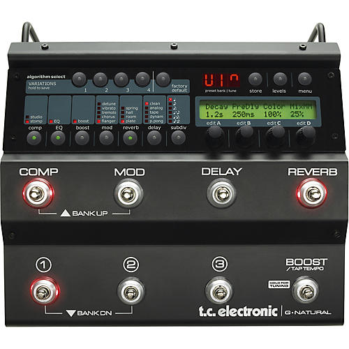 TC Electronic G-Natural Acoustic Guitar Multi Effects Pedal