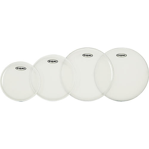 Evans G Plus Clear Fusion Drumhead Set with Free 14