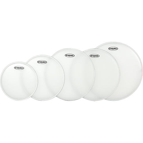 Evans G Plus Coated 4-Piece Fusion Drumhead Set with Free 14