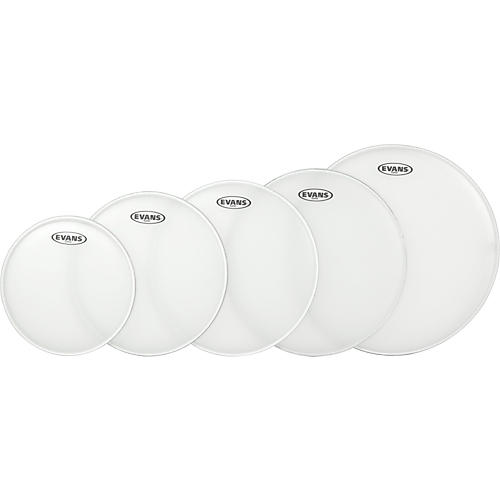 Evans G Plus Coated 4-Piece Standard Drumhead Set with Free 14