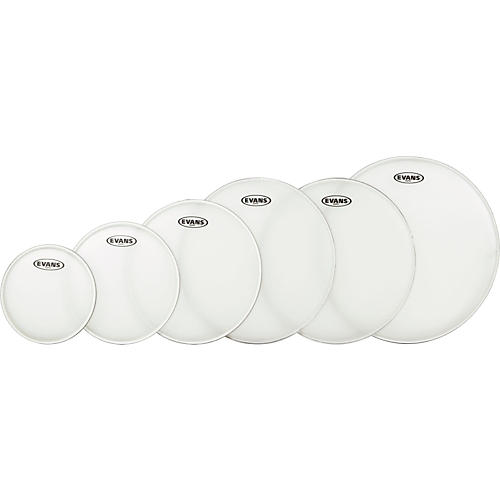Evans G Plus Coated 5-piece Fusion Drumhead Set with Free 14