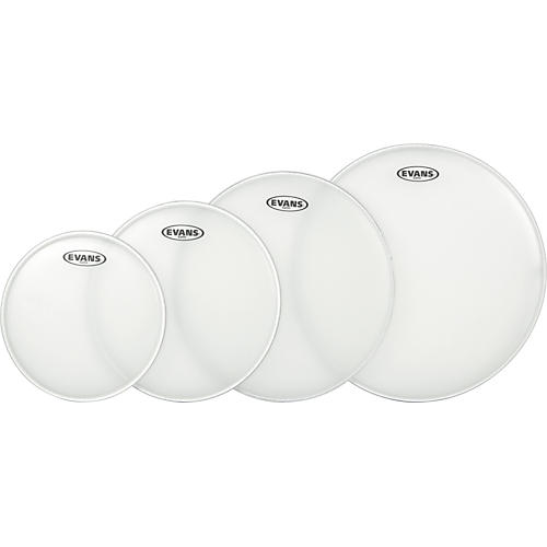 Evans G Plus Coated New Fusion Drumhead Set with Free 14