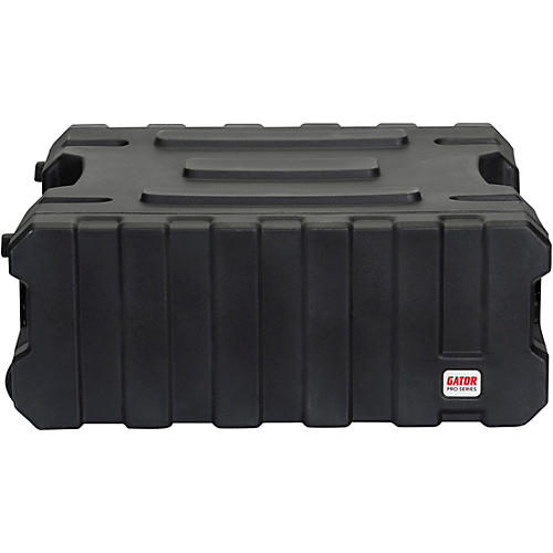 Gator G-Pro Roto Mold Rolling Rack Case Black 4 Space