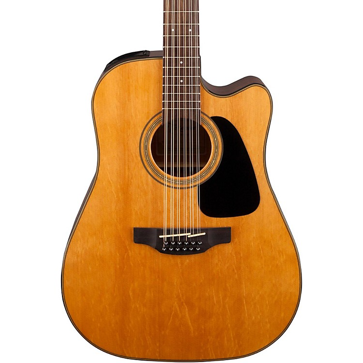 Takamine G Series Dreadnought Solid Top Cutaway 12-String Acoustic/Electric Guitar Natural