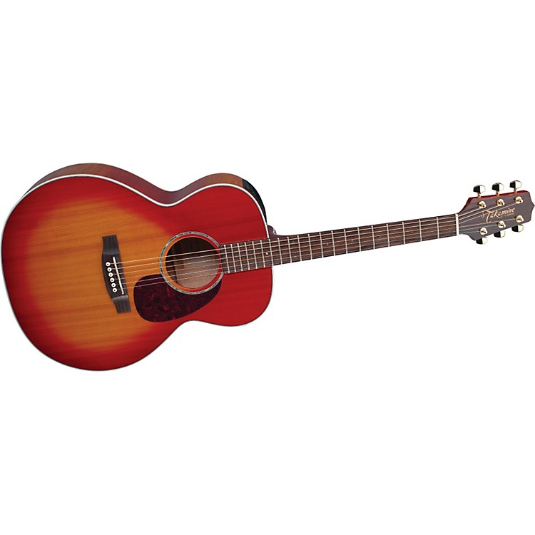 TakamineG Series EG430S New Yorker Flame Mahogany Acoustic-Electric Guitar