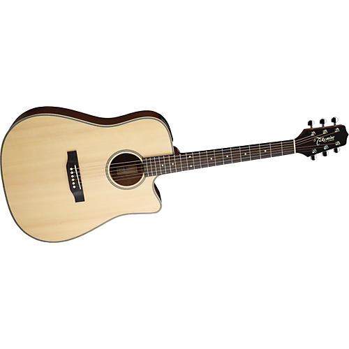 Takamine G Series EG511SSC Cutaway Dreadnought Herringbone Acoustic-Electric Guitar Natural