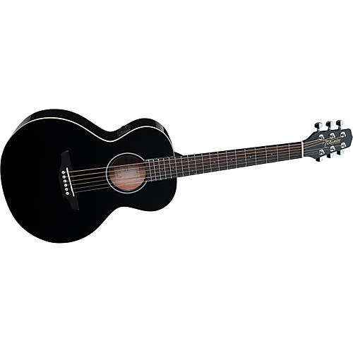 Takamine G Series Mini Acoustic-Electric Gloss Guitar Black