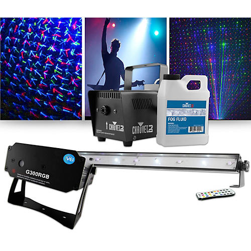 VEI G300 RGB Special Effects Laser with Chauvet DJ Jam Pack Emerald Lighting Package-thumbnail
